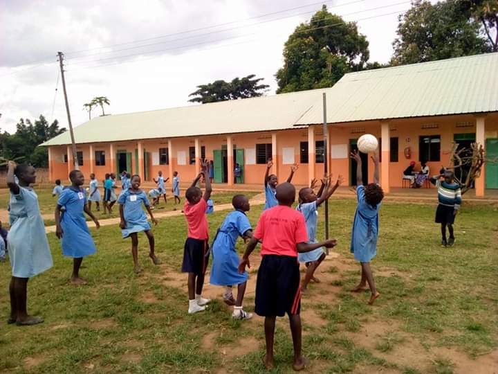 Deaf girls playing with non disabled peers